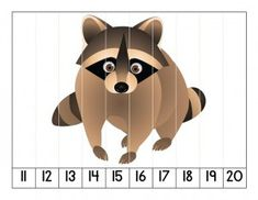 simple puzzle forest animals