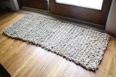 » Blog Archive DIY Knit Natural Sisal Rug | merrypad