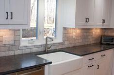 Farm Sink, Soapstone Countertops, Custom Kitchen Cabinets