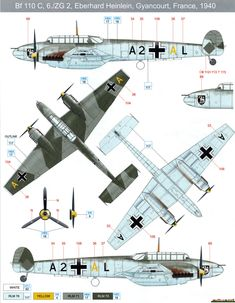 Bf 110C Color Profile and Paint Guide