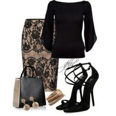 el encaje y el negro... sofisticado y elegante.