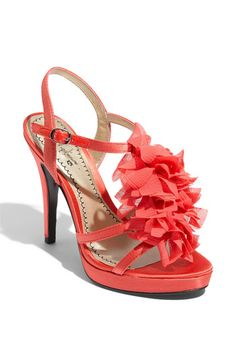 Coral sandals. Lovely