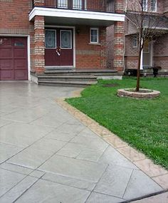From entries and footpaths to driveways and pool decks, A Better Driveway Melbourne will bring your home improvement dreams to reality. Patterned Concrete Driveways, Concrete Patios, Landscaping Supplies, Home Landscaping, Exposed Aggregate Driveway, Pattern Concrete, Exterior House Colors, Cool Landscapes, Leeds