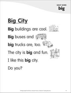 Big City (Sight Word 'big'): Super Sight Words Poem