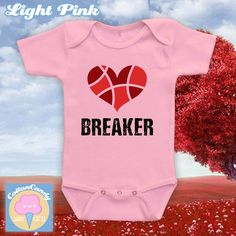 Heart Breaker Valentine's day bodysuit or kids t-shirt, Valentine's day onesie, Valentine's Day outfit, Valentine's day 2017 - CCB-512 by CottonCandyBabyGifts on Etsy