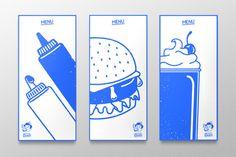 Hefty's Burgers by Jake MacDougall, via Behance