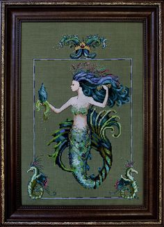 Mirabilia Designs cross-stitch patterns. I love their mermaids, but this is the best.
