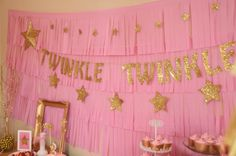 Twinkle Twinkle Little Star Party, DIY fringe backdrop