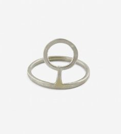 Ancient Key Silver Ring | Based on ancient symbols, this minimal silver ring represents ... | Rings