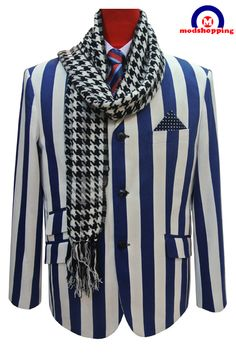 Modshopping - Boating blazer,  Classic striped,Blue and white striped , £149.00 (http://www.modshopping.com/boating-blazer-classic-striped-blue-and-white-striped/)