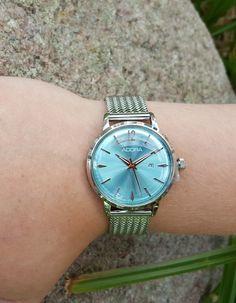 Adora Damenuhr hellblau - silber Rolex Watches, Dame, Accessories, Fashion, Light Blue, Clock, Silver, Moda, Fashion Styles
