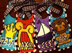 Door Hanger - ADPi Cute bid day idea!