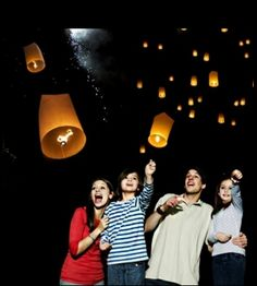 10-pack of Colorful Chinese Sky Lanterns - $16.00 LOVE THESE!!!!!  Great memorial!!!
