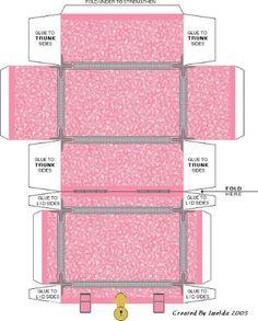 Miniature Printables - Pink/Grey Box.