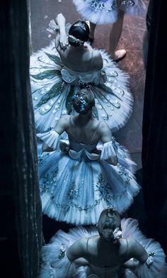 The work of Russian photographer Nikolay Krusser. Reminds me of Degas' Ballerinas