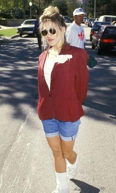 Sarah Jessica Parker- boy shorts and oversized blazer