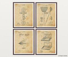 Fishing Patent Art  Fly Fishing Art  Fishing by WunderkammerStudio