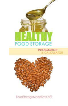 Healthy Food Storage - an alternative calculator and additional tips on building a healthier food storage