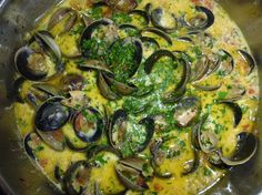 Steamed Clams in Creamy Garlic Saffron Broth