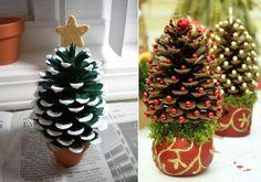 Decoração de Natal com Pinhas - blog Vera Moraes - Decoração - Adesivos Azulejos - Papelaria Personalizada - Templates para Blogs