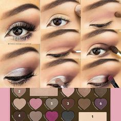 Thank you Too Faced for this tutorial using your Chocolate Bar Palette!!!