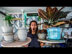 In this video we go through how to make different types of planters from clay on the potter's wheel. Mocha Monkey and Pottery Studio: Send me stuff or visit . Throwing Clay, Pottery Videos, Wheel Thrown Pottery, The Potter's Wheel, Pottery Studio, Planter Pots, Etsy Shop, Ceramics, Make It Yourself