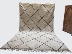 "9'3""x15'8"" LARGE Stunning Soft Beni rug Berber Alfombras Nursery rug Traditional Handmade rug beni ourain rug Traditional Rug Classic Design"