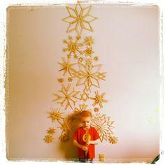 My #Popsicle stick #snowflake #christmas tree