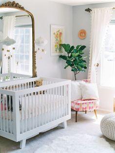 Cozy feminine girl's nursery | Newborn photography | 100 Layer Cakelet