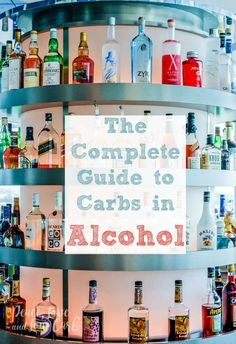 The Complete Guide to Carbs in Alcohol - Peace Love and Low Carb High Carb Foods, No Carb Diets, Diet Foods, Carbs In Alcohol, Carb Cycling Diet, Keto Cocktails, Craft Cocktails, Low Carb Drinks, Alcohol Detox