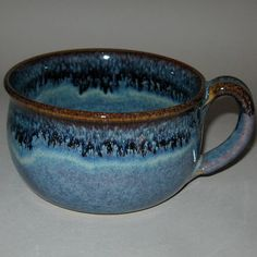 Pottery Mug in Starry Night Blue by ConchoCreekPottery