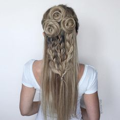 Fun flower braids by @n.starck