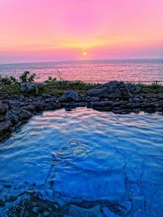 Sunset in Shakotan-cho, Hokkaido Prefecture_ Japan