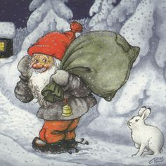 Swedish Rolf Lidberg Tomte Rabbit