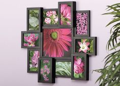 MATRIX COLLAGE FRAME Show 10 4x6 photos and 1 8x10 inch photos in this unique photo collage frame. Comes in brown and black too. Dimensions: 24x22x1.5 inches