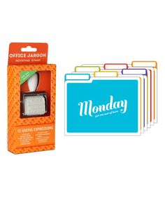 Another great find on #zulily! Week of Words Office Set #zulilyfinds