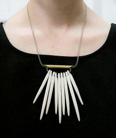 Pigeon Toe Ceramics Fringe Necklace