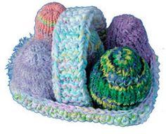 Easter Eggs in Basket pattern by knitvana