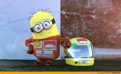 Minion Menna homenaje a Ayrton Senna.