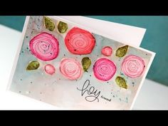 """Great technique for use with Lisa Johnson's """"Scribbled Flowers"""" stamp set from My Favorite Things"""