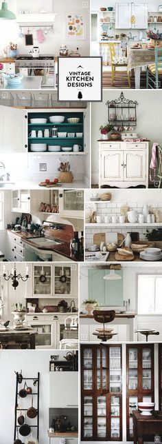Vintage Kitchen Design, Accessories, and Decor Ideas