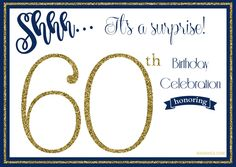 Get Free Printable 60th Birthday Invitations