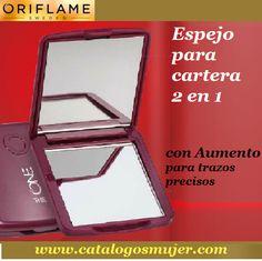 THE ONE Espejo Compacto para cartera 2 en 1 con aumento *70%* Oferta S/. 6.90