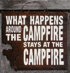 camp sign...