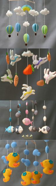 baby mobile,hot air balloons mobile,nursery rug by LovelySymphony
