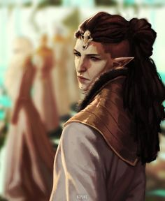 Evanuris I realized i've never drawn Solas with hair so i did! this was part of a bigger picture but patience is not one of my best qualities EDIT: I wanted to apologize for my ignorance, after reading a comment on the reblogs i realized i made a...