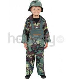 #Disfraz de camuflaje del #ejército para niño. Este disfraz se compone de chaqueta, pantalones y mochila #Disfraces #Teatro #Colegios #FiestaEscolar #FindeCurso #Militar