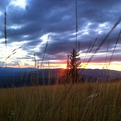Sunset in Paltinis, Romania.