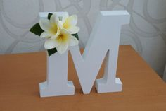 Frangipani letter decor for Weddings Baby by PaperHeartSydney