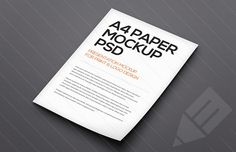 Medialoot - Floating A4 Paper Mockup (Psd)